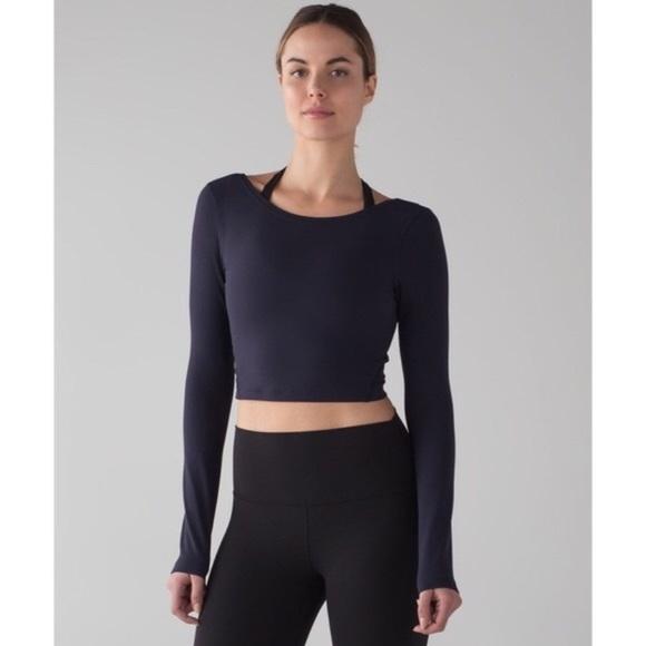 198f589a48f lululemon athletica Tops | Lululemon Arise Crop Long Sleeve | Poshmark